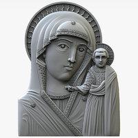 chimeevskaya icon mother god 3D