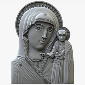 chimeevskaya icon mother god 3D