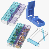 pill tray organizers splitter 3D model