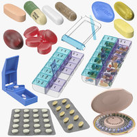 3D model pills blisters trays