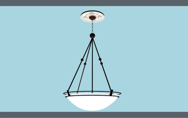 3D model light hanging fixture