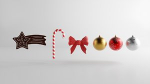 christmas decoration assets cookie 3D