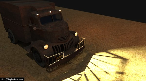 3D model jeepers creepers truck
