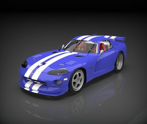 dodge viper modeled 3D