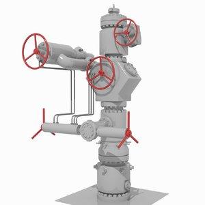oil wellhead 3D
