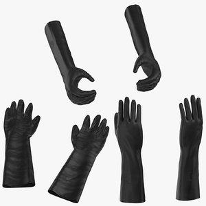 large black rubber lab model