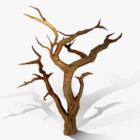 3D model spooky acacia tree animation