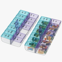 3D weekly pill organizers