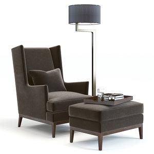 3D model sofa chair blake armchair