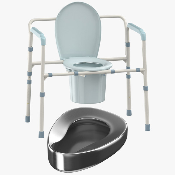 medical bedpan commode chair 3D
