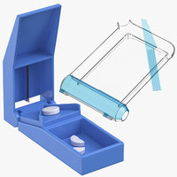 3D pill splitter counting tray model