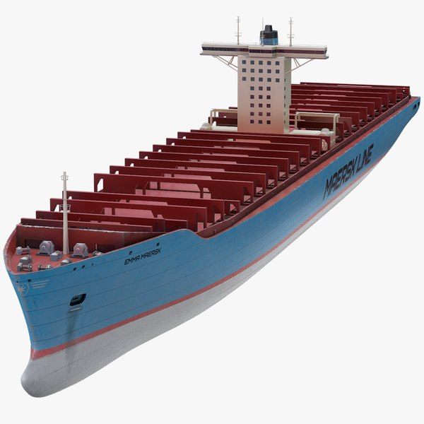 container ship maersk emma 3D model