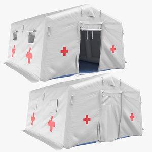 quarantine tent open closed 3D model