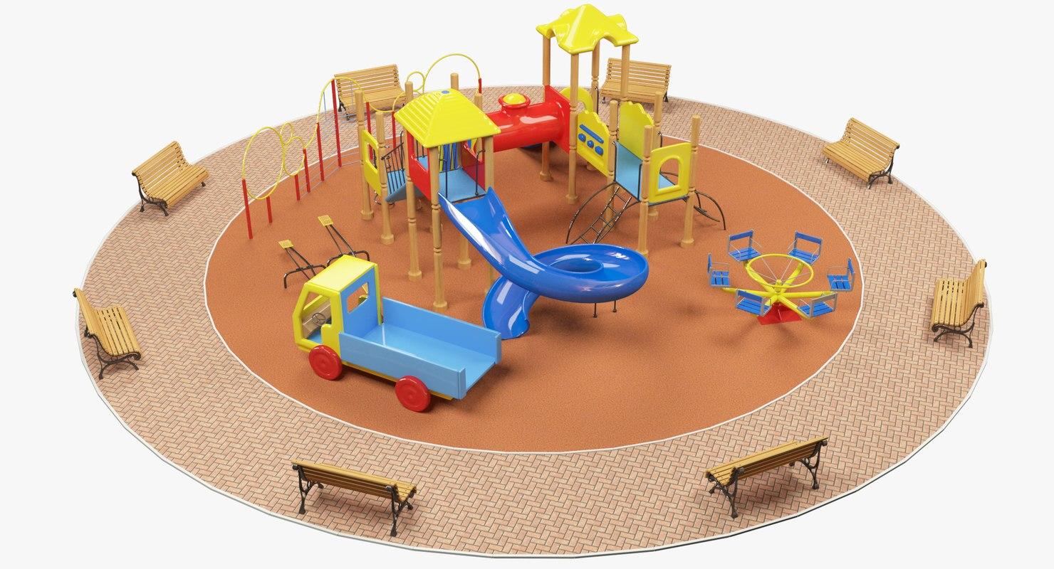 playground play ground 3D model