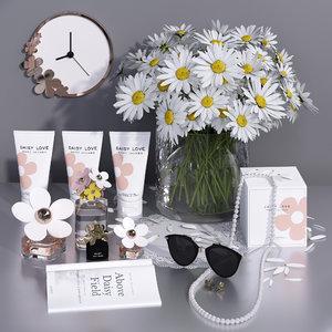 3D daisy perfume model