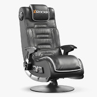 gaming chair xrocker pro 3D model