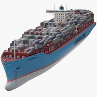 container ship maersk 3D model