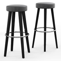 3D franklin wooden bar stool