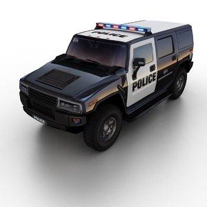 3D generic police suv