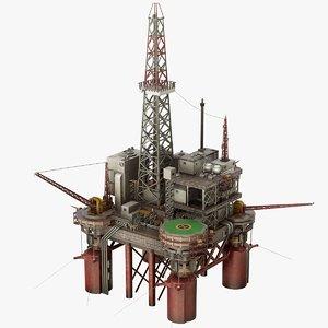 3D oil rig platform