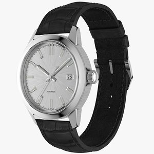 3D model realistic classic automatic watch