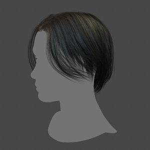 3D real time hair polys