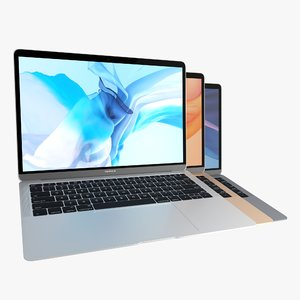 macbook air 2018 colors 3D