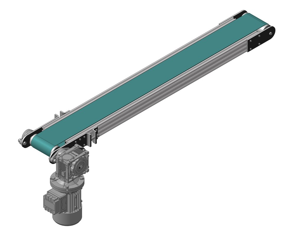 flat belt conveyor 3D