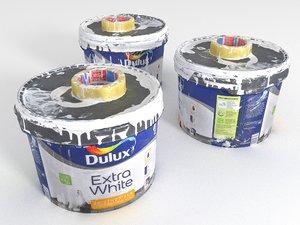 3D paint bucket model