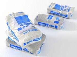 3D model bag plaster