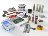 home renovation painting tools 3D model