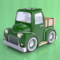 Cartoon Farm Pickup Truck