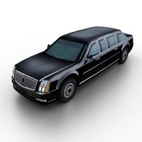3D model generic limousine traffic