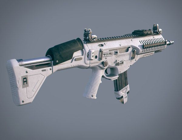 amx assault rifle ammo 3D model