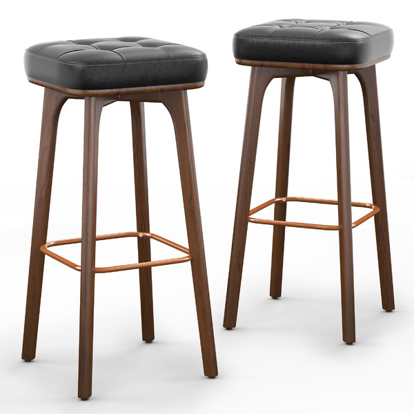 3D winchester solid bar stool