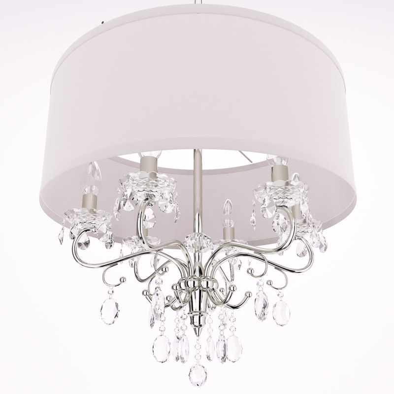 hawkins 6-light chandelier lights 3D