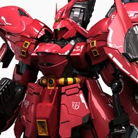 3D model msn-04 sazabi