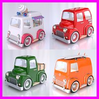 3d model cartoon car pack 02