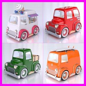 3d model cartoon car pack 02