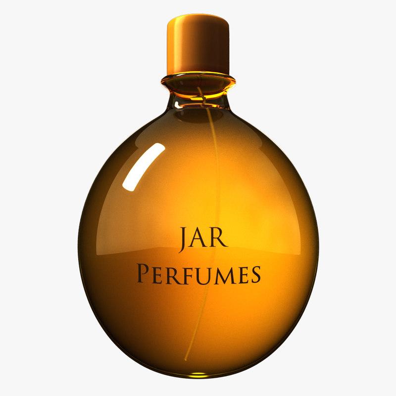 perfume bottle paris 3D