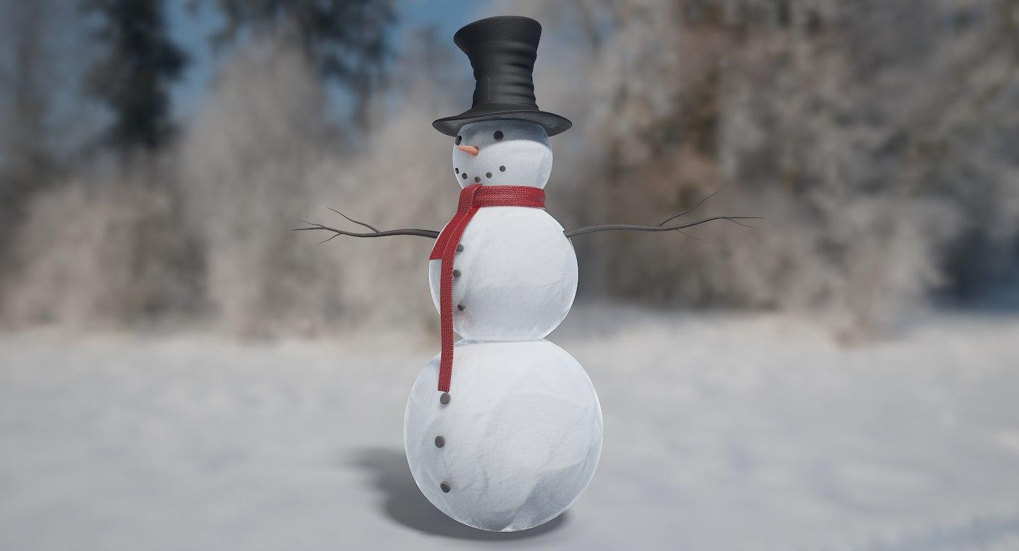snowman realtime 3D model