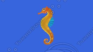 seahorse animations 3D model