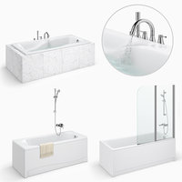 3D model set baths cersanit 25