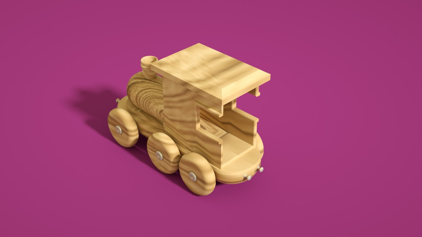 3D toy play wood