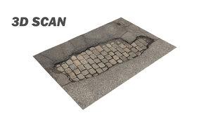 3D scan cobblestone