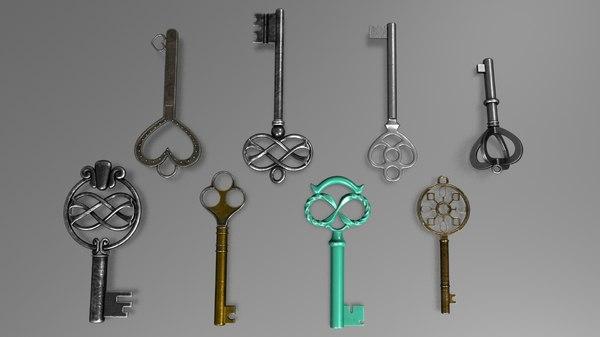key vintage 3D