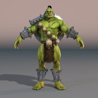 3D model orc troll fantasy