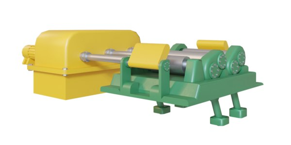 3D metal sheet roll machine model