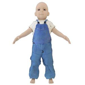 3D blender boy year old model