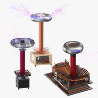 tesla coils 3D model